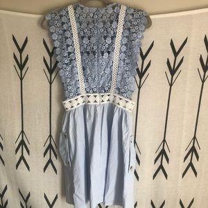 Self-Portrait Dresses - Light blue self-portrait dress